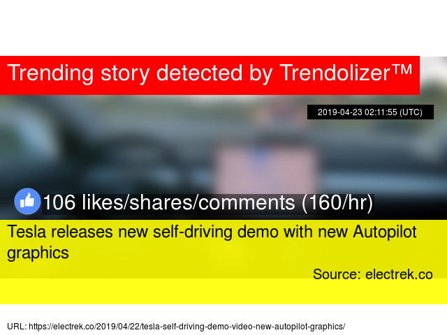 Tesla releases new self-driving demo with new Autopilot graphics