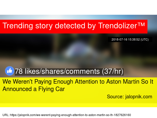 We Weren 39 T Paying Enough Attention To Aston Martin So It