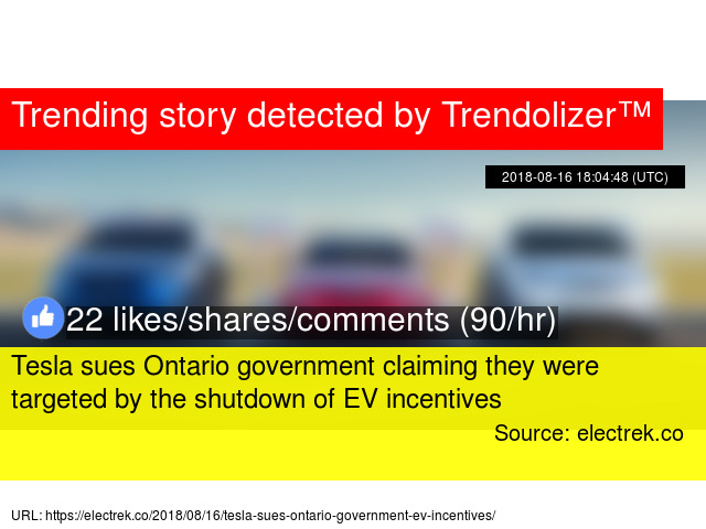 Tesla Sues Ontario Government Claiming They Were Targeted By The Shutdown Of Ev Incentives